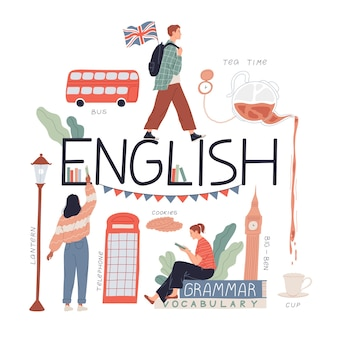 Estudando a língua e a cultura inglesas, viaje para a inglaterra.