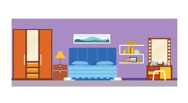 Estudante escola dormitório interior do quarto;