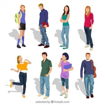 Estudantes adolescente