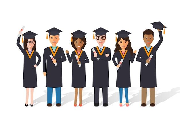Estudantes de graduação.