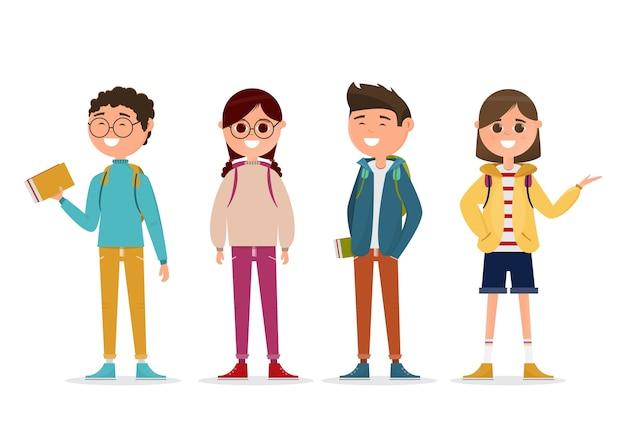 Estudantes em caráter diferente