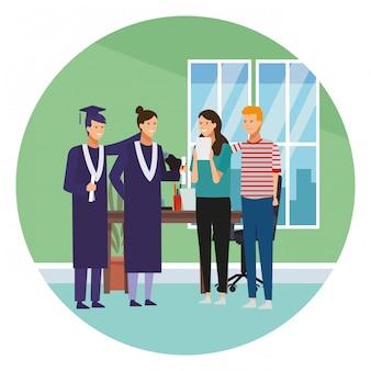 Estudantes na graduação