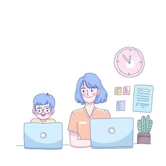 Estudar em casa com a mamãe