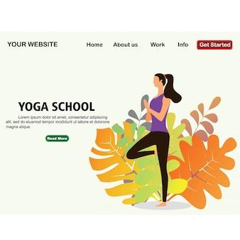 Estúdio de escola de yoga.