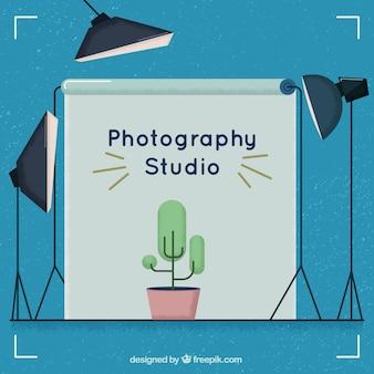 Estúdio fotográfico no estilo do vintage