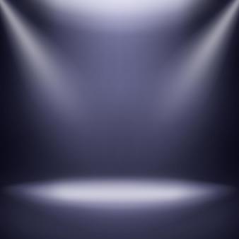 Estúdio vazio. quarto estúdio vazio 3d, show booth com holofotes
