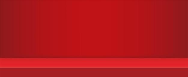 Estúdio vermelho moderno vazio