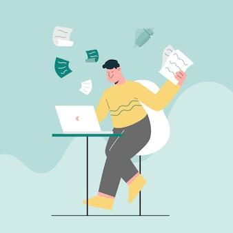 Estudo de exame online e conceito de computador