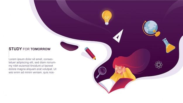 Estudo para o design da página de destino amanhã