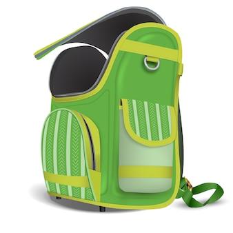 Esvazie a mochila da escola aberta.