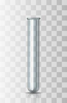 Esvazie o vidro científico ou médico transparente - tubo de ensaio.