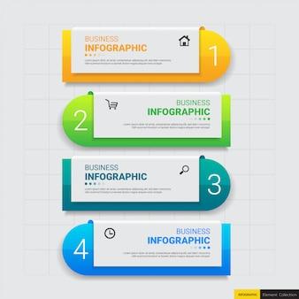 Etapas de infográfico de negócios modernos