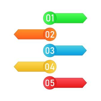 Etapas do processo. elementos do vetor infográfico.