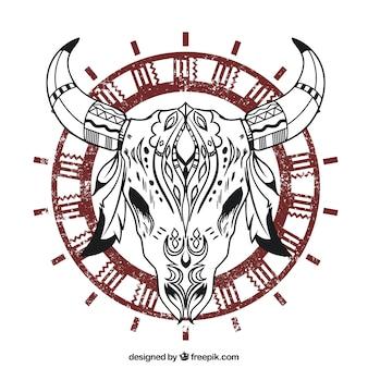 Ethnic crânio dos animais