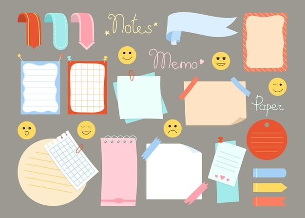 Etiqueta adesiva do conjunto de notas adesivas de planejador de papel para caderno