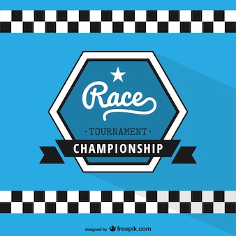 Etiqueta campeonato de corrida