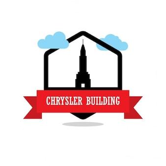 Etiqueta chrysler fita edifício