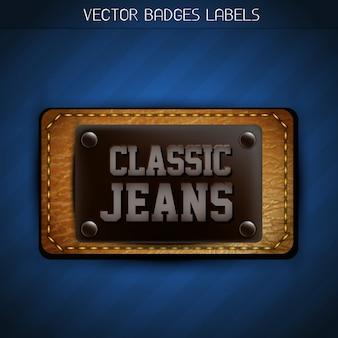 Etiqueta clássica jeans