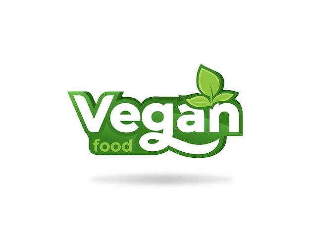 Etiqueta com logotipo moderno de comida vegana