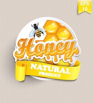 Etiqueta com mel.