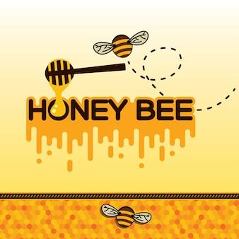 Etiqueta da abelha do mel