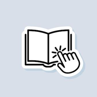 Etiqueta da biblioteca digital eletrônica. conceito de educação na internet, recursos de e-learning, cursos online distantes. vetor em fundo isolado. eps 10.