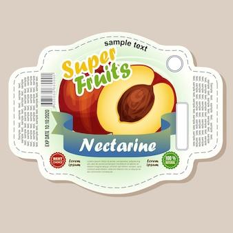 Etiqueta da etiqueta da nectarina