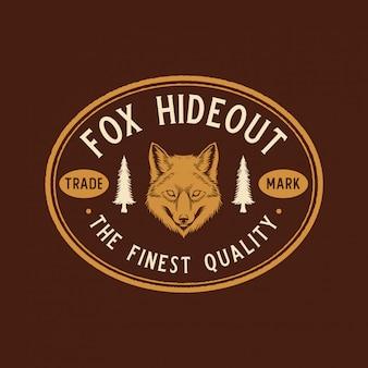 Etiqueta de aventura da raposa