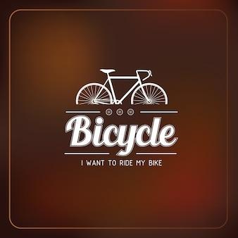 Etiqueta de bicicleta