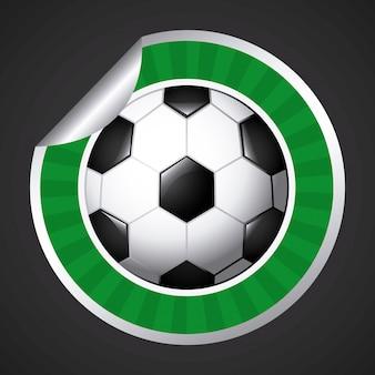 Etiqueta de bola de futebol