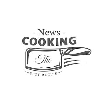 Etiqueta de cozinha isolada em fundo branco