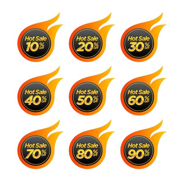 Etiqueta de distintivo de promoção de venda quente