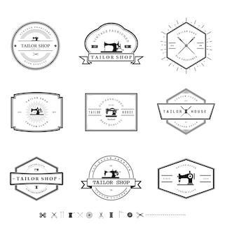 Etiqueta de emblema vintage tailor shop