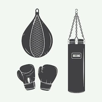 Etiqueta de emblemas de logotipo de boxe e artes marciais