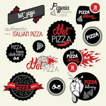 Etiqueta de entrega de pizza