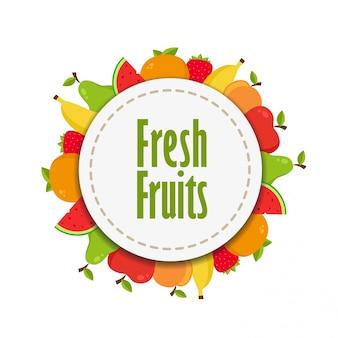 Etiqueta de frutas frescas