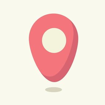 Etiqueta de geolocalização. ilustração vetorial em estilo simples