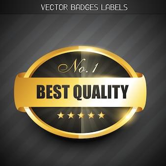 Etiqueta de melhor qualidade