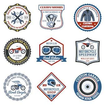 Etiqueta de motocicleta colorida