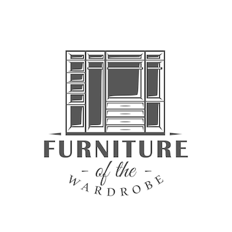 Etiqueta de móveis isolada em fundo branco