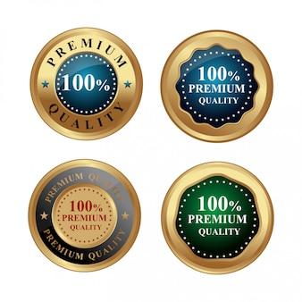 Etiqueta de ouro de qualidade premium