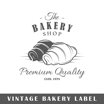Etiqueta de padaria isolada em fundo branco
