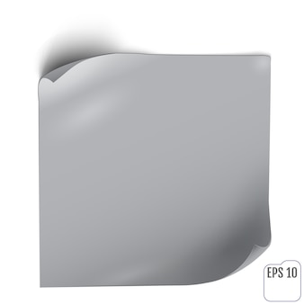 Etiqueta de papel com sombra