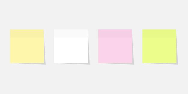 Etiqueta de papel definir cores diferentes com sombra.