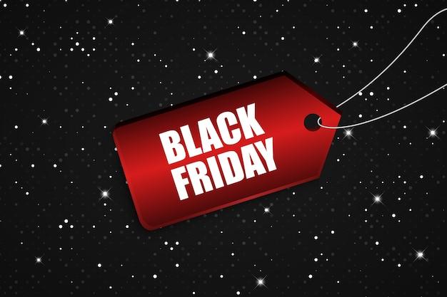 Etiqueta de preço black friday concept com reluz