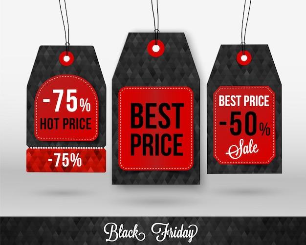 Etiqueta de preço da black friday