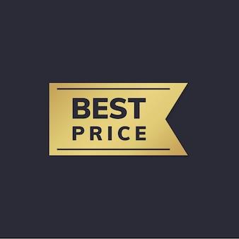 Etiqueta de preço de ouro