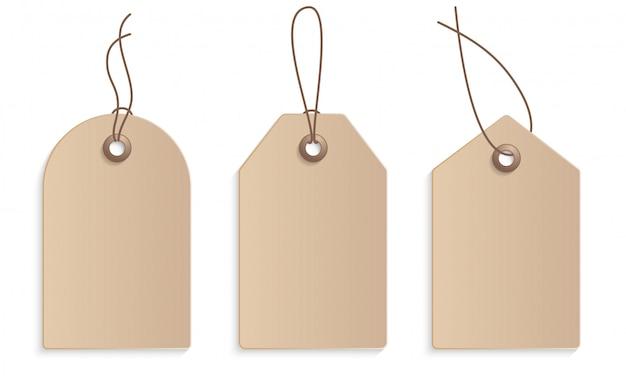 Etiqueta de preço de papel de artesanato realista