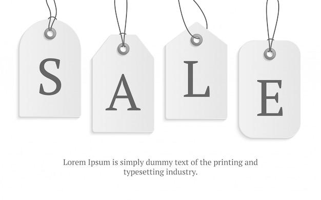 Etiqueta de preço de papel realista