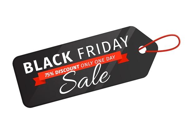Etiqueta de preço de venda da black friday